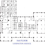 Chanin Building, 380 Lexington Avenue, Grand Central Office Space NYC, 16th floor plan