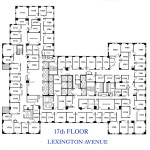 Chanin Building, 380 Lexington Avenue, Grand Central Office Space NYC, 17th floor plan