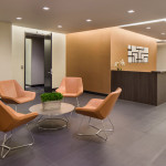 Reception area seating at 225 West 34th Street