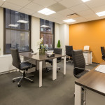 Team Room, a large furnished office space that can accommodate 5-12 people per company