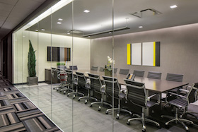 New Yorker Meeting Room seats 20 people and includes television, Internet, conferencing