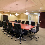 Liberty Meeting Room comfortably accommodates 18 people