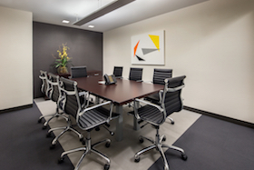 Plaza District Meeting Room accommodates 8 people and includes conference calling