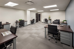 NYC shared office space rental, team room
