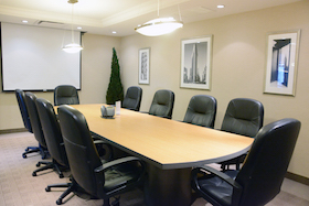 Chanin Meeting Room comfortably accommodates 12 people